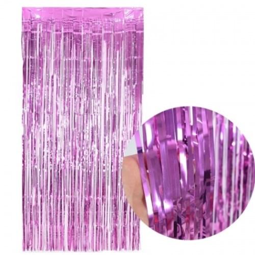 은박커튼 핑크
