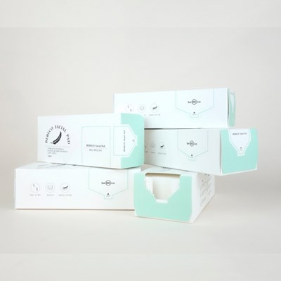 베베코 훼이셜 패드 스펀지화장솜 160매 (포장손상제품)