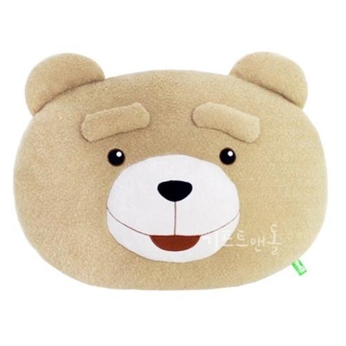 정품 19곰 테드 대형 얼굴 쿠션 인형 40cm_(1820555)