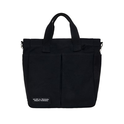 VIAMONOH DAILY TUMBLER BAG (BLACK) 에코백 토트백 크_(1049047)