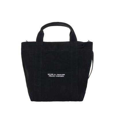 VIAMONOH DAILY TOTE CANVAS BAG (BLACK) 에코백 토트백_(1049042)