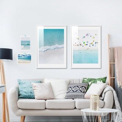 시원한 여름바다 풍경 감성사진 포스터 16종 북유럽 인테리어액자
