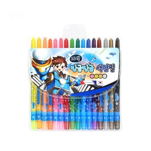5000 빙글빙글 색연필 (16색/남)_(2614661)