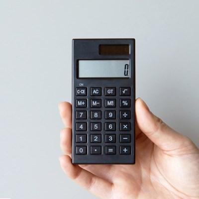 단순생활 심플 미니 전자계산기 블랙