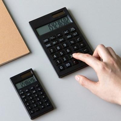 단순생활 심플 데스크 전자계산기 블랙