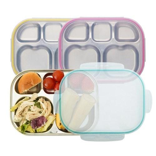 다이어트 유아 하트형 도시락 식판 3color 유아식판