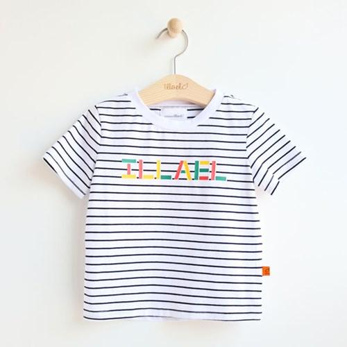 스트라이프 로고 아동 반팔 티셔츠 IB2CH504U