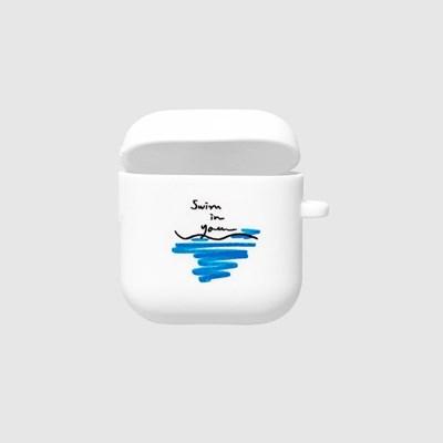 [스리살짝] swim in you Airpods Case (2color) 에어팟케이스