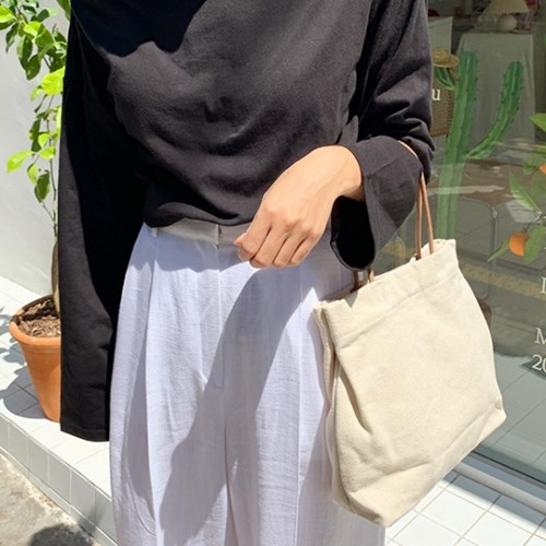 Clear canvas tote bag_K_(1343466)