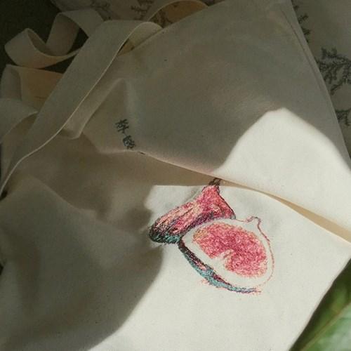 무화과 자수 가방 (Fig embroidery eco bag)