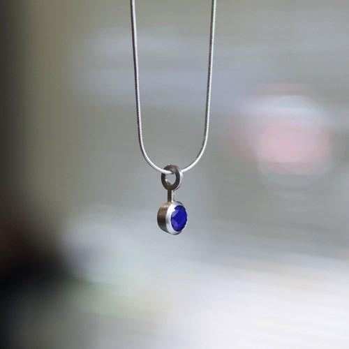 [normaldott] Lapis lazuli cone setting Necklace