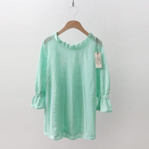 Hoega Wool Sky Ruffle Sweater