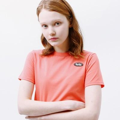 Mini circle logo crop T-shirt pink_(1232465)