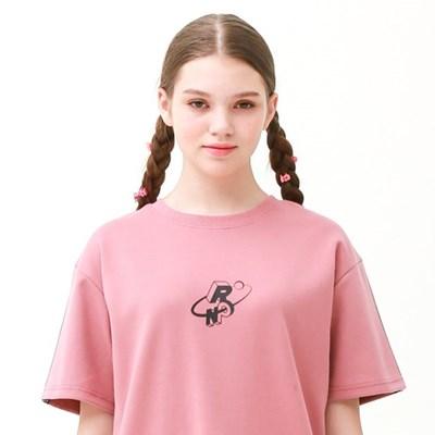 Check track regular fit T-shirts indi pink_(1232440)