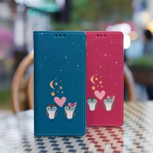 LG X6 2019 (LG X625) Ventosa-Owls 수제 지갑 다이어리 케이스
