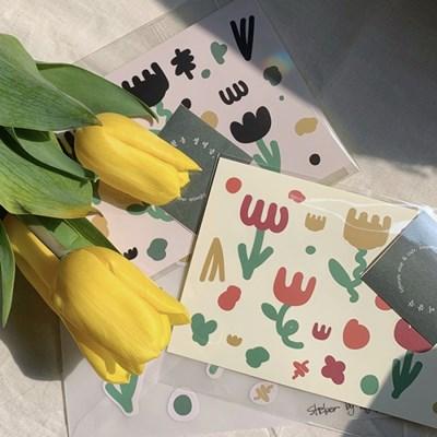 튤립 페스티벌 스티커 (Tulip festival sticker)
