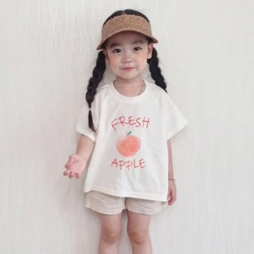 애플 아동 반팔티
