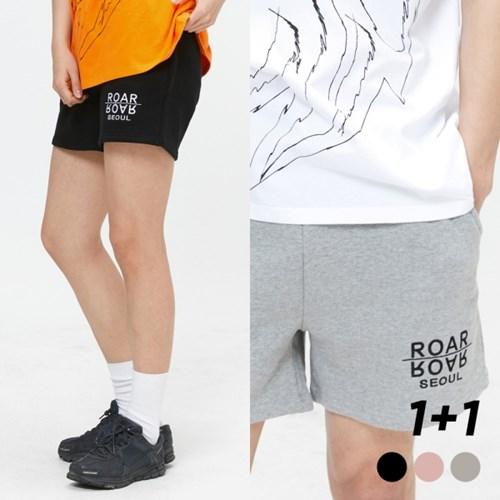 [1+1] ROAR SEOUL 로고 서울 자수 숏팬츠 3COLOR