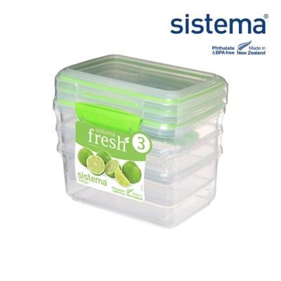 [시스테마] 프레쉬 그린 직사각 1L 3팩_(835330)