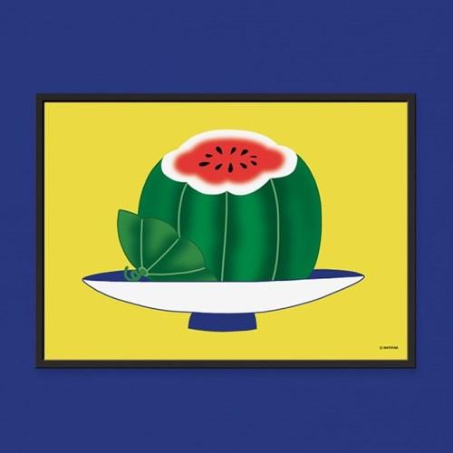 소과도 수박 - 민화 일러스트 포스터 액자