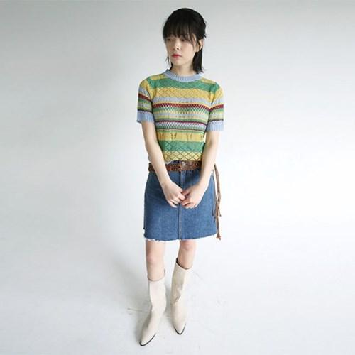 damaged detail mini skirts (blue)_(1284011)