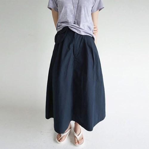 cutie pocket detail maxi skirts (navy)_(1284006)