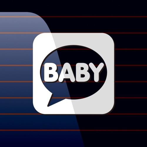 캐찹 자동차스티커 말풍선 Baby_04