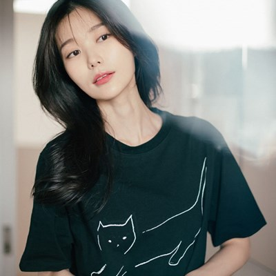 [Organic cotton] The Cat (black)