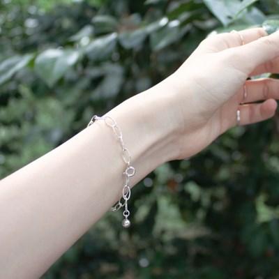 Silver ball drop bracelet (은볼 고방체인 드롭팔찌)[92.5 silver]