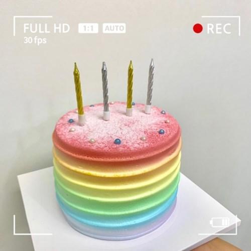 미니 스크류 파티 생일초 SET/10개입 (3color)