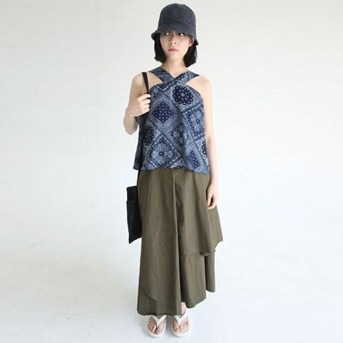 unbalance cotton long skirts (2colors)_(1285758)