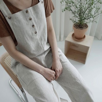 easy jumpsuit (oatmeal)