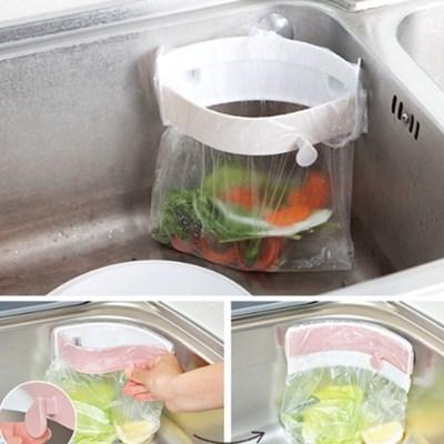 음식물쓰레기매직홀더(컬러랜덤) / 음식물 쓰레기통 밀폐 매직 홀더