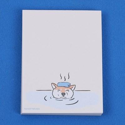 [노낫네버] 따뜻해 시바견 메모패드