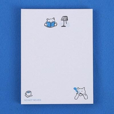 [노낫네버] 고양이와 커피 한 잔 메모패드