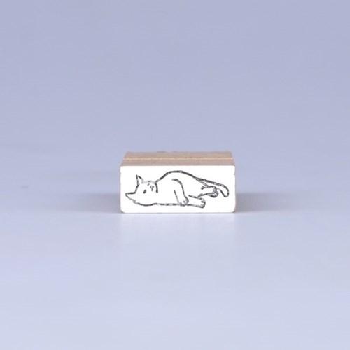 [노낫네버] 고양이일상 그루밍 우드 스탬프