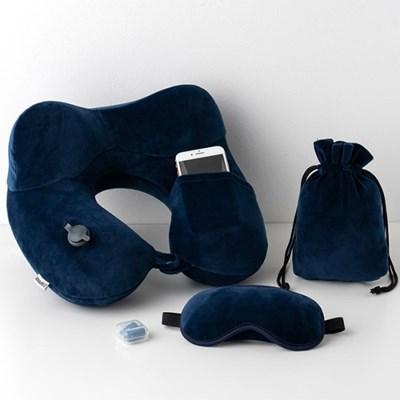 낙타 급속충전 에어목베개 세트 NO.1560/안대,귀마개,파우치