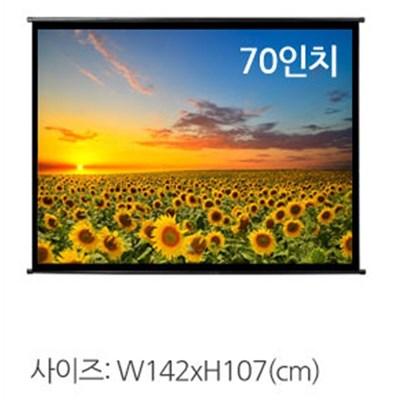 마루느루 이동식 족자형 빔프로젝터 스크린 142x107CM EX544