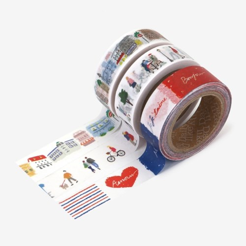 Masking tape 3p set - 01 Bonjour
