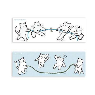 [노낫네버] 고양이 줄다리기 스티커(6매)