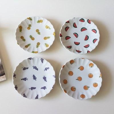 과일 디저트 접시 카페접시