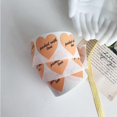 With Love Orange Sticker 위드러브오렌지스티커(12개)