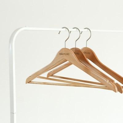 로터스 원목 옷걸이 30P - 01 라이트 브라운