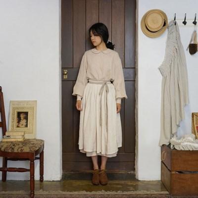 린넨 개더스커트 : Linen gather skirt