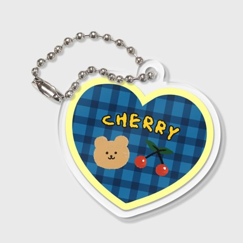 Cherry bear-blue(키링)_(1212151)