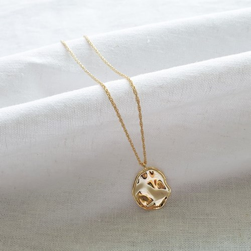Wave Egg Necklace - Silver925