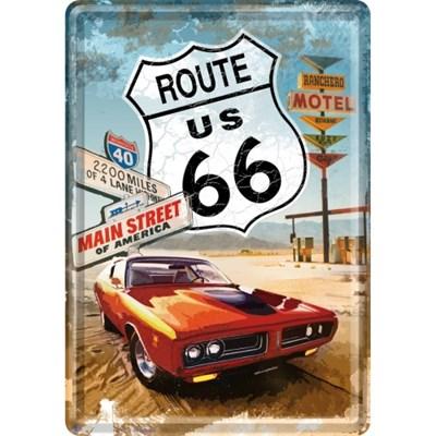 노스텔직아트[10116] Route 66 Red Car