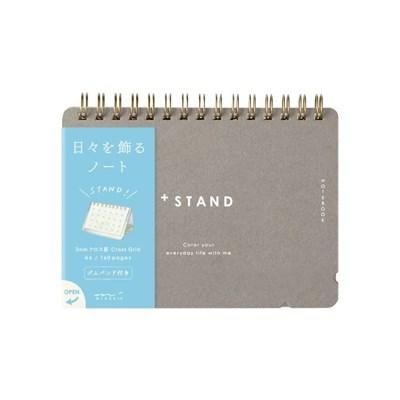 Notebook A6 +Stand Cross Dot Gridded