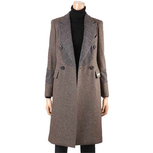 [제이비리파인] GLAMOUROUS DOUBLE BUTTON WOOL COAT