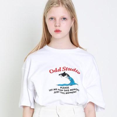 오드스튜디오 그램퍼스 티셔츠 - WHITE